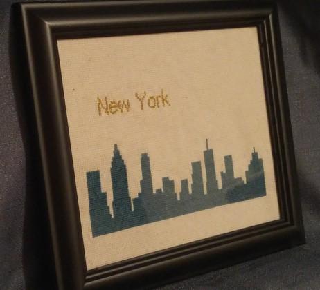 basic stitch | NYC Skyline cross-stitch