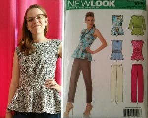 basic stitch   New Look 6196 Peplum Top